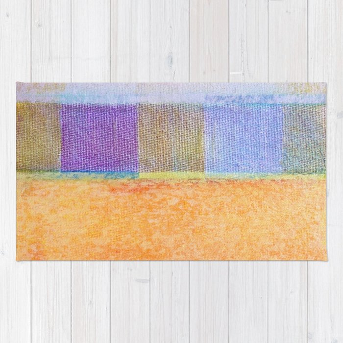 Amber and Mauve Square Collage Rug