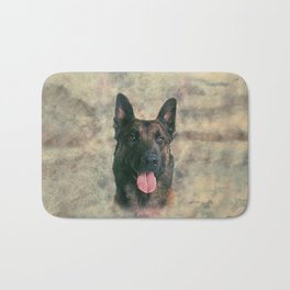 Malinois - Belgian shepherd -Mechelaar -Maligator Bath Mat