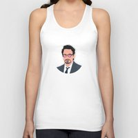 robert downey jr Tank Tops featuring Robert Downey Jr/IronMan by William Dowling