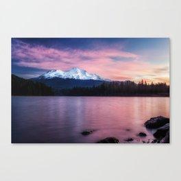 Sublime a sunrise at Lake Siskiyou with Mt. Shasta Canvas Print