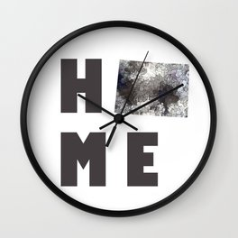 "Wyoming ""HOME"" Wall Clock"