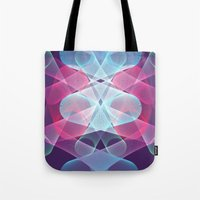 psychedelic art Tote Bags featuring Psychedelic by Scar Design