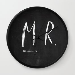Mr & Mrs - wedding decoration Wall Clock