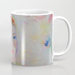 Portrait of a Beautiful Siren Daydreamer Acrylic Painting Coffee Mug