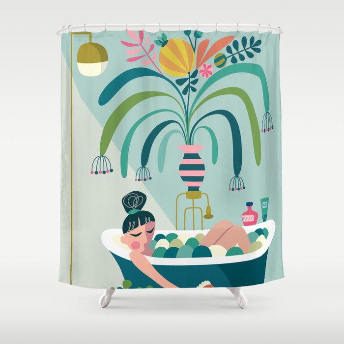 Relaxing Bath Shower Curtain