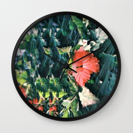 Scattered Floral Wall Clock