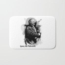 Ignacy Jan Paderewski - Polish Prime Minister, Polish Pianist Bath Mat