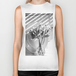 Bouquet and Plate-BW Biker Tank
