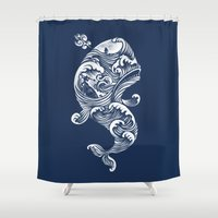 saturn Shower Curtains featuring The White Whale  by Peter Kramar