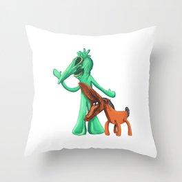Gumbyjuice Throw Pillow