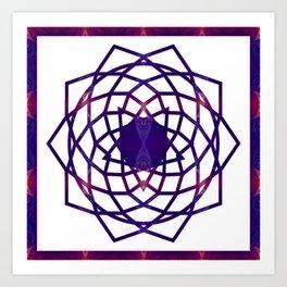 Passionate Purple Prayers Abstract Chakra Art  Art Print