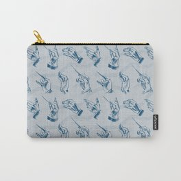 Conductor (pattern in grey and indigo) Carry-All Pouch