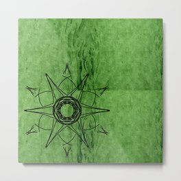 Green Position Metal Print