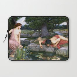 Echo and Narcissus by John William Waterhouse Laptop Sleeve