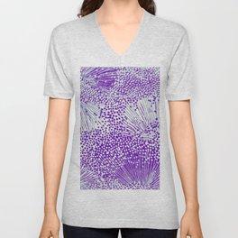 sprinkle of dots in purple Unisex V-Neck