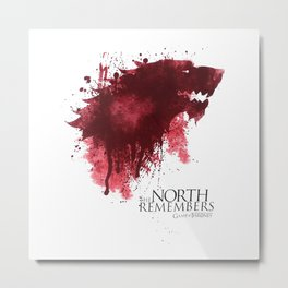 The NORTH Remembers Game OfThrones Metal Print