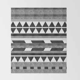 DG Aztec No.1 Monotone Throw Blanket