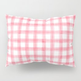 watercolor plaid - pink Pillow Sham