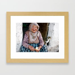 The Lady and the Cat Framed Art Print