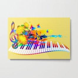 Colorful music instruments design Metal Print