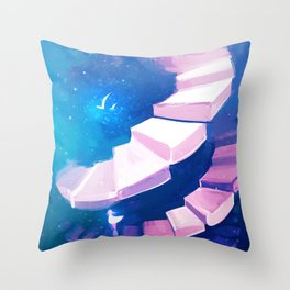 long walk home Throw Pillow