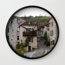 That Village in the French Countryside Wall Clock