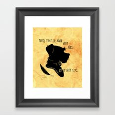 Those That Lie Down With Dogs, Get Up with Fleas Framed Art Print