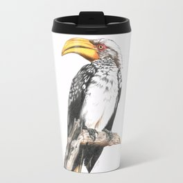 Southern Yellow-Billed Hornbill - Colored Pencil Travel Mug