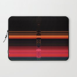 Bright Red Stripes with a Twist Laptop Sleeve