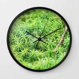 Forest of moss Wall Clock