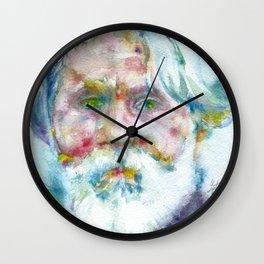 IVAN TURGENEV - watercolor portrait Wall Clock