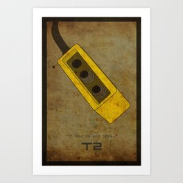 Alternative Terminator 2 Movie Poster Art Print