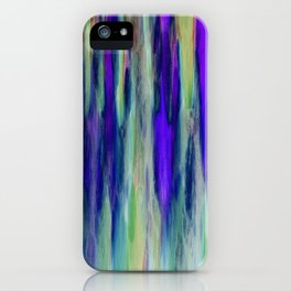The Cavern in Shades of Purple and Green iPhone Case