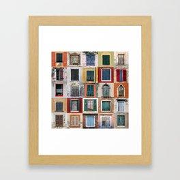 Twenty Five Windows Framed Art Print