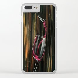 Fine Wine Clear iPhone Case