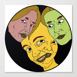 3 or 4 Faces Canvas Print