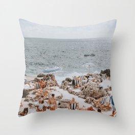 capri, italy Throw Pillow