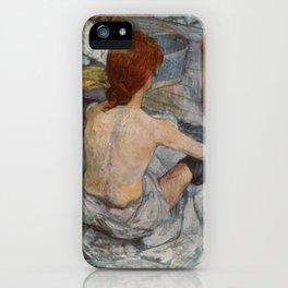 Henri De Toulouse Lautrec Rousse iPhone Case