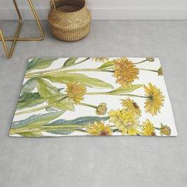 Yellow Paper Daisies Rug
