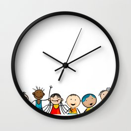 Smiling faces Wall Clock