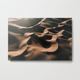 Lovers in the Sand - Aerial Landscape Photography Metal Print
