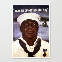 Dorie Miller -- Above And Beyond The Call Canvas Print