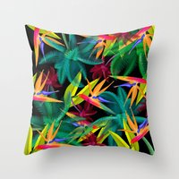 palm trees Throw Pillows featuring Palm Trees by mark ashkenazi