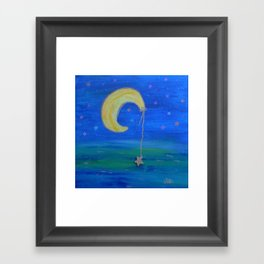 The Moon And Its Star Framed Art Print