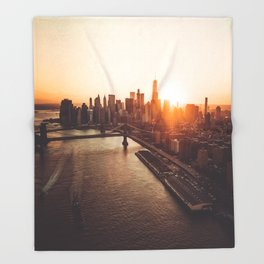 nyc aerial view Throw Blanket