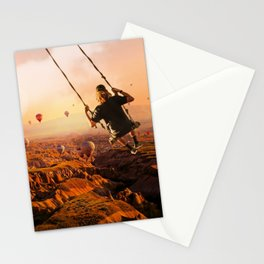 Swinging with Balloons by GEN Z Stationery Cards