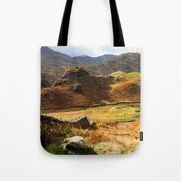 Castle Howe landscape Tote Bag