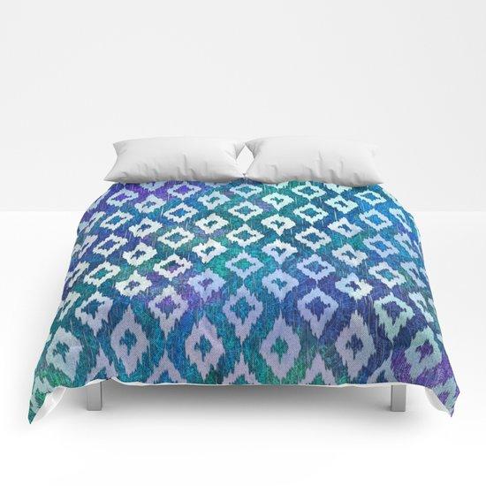 Jewel Ikat Pattern Comforters
