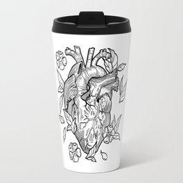 heart black white Travel Mug