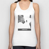 copenhagen Tank Tops featuring Copenhagen by Map Map Maps